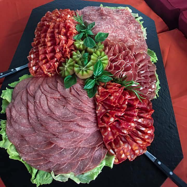 Gemischte Salamiplatte